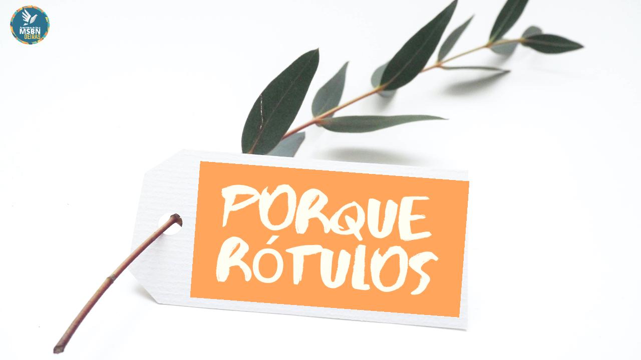 PORQUE RÓTULOS | Pb Jozias Pinto
