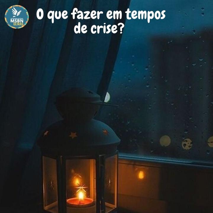 O QUE FAZER EM TEMPOS DE CRISE? | Pr Josué Moreira Jr.