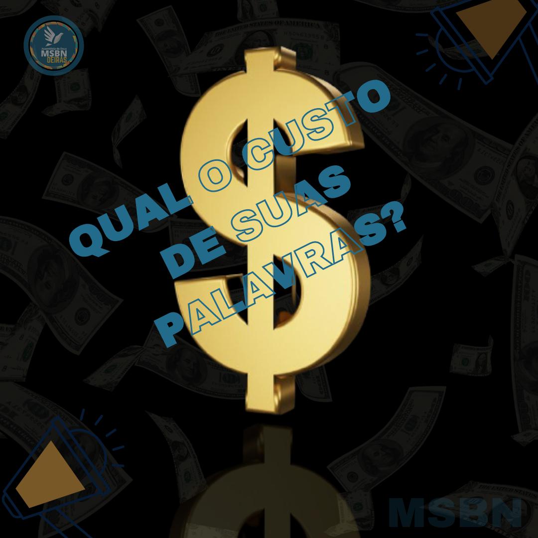 QUAL O CUSTO DAS SUAS PALAVRAS? | Pr Josué Moreira Jr