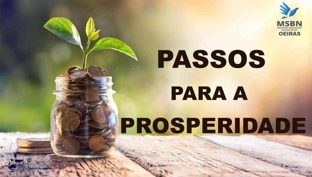 PASSOS PARA A PROSPERIDADE